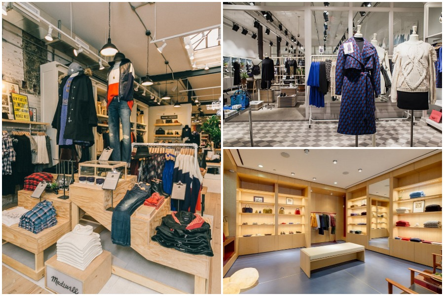 """Photos, clockwise from left: Madewell Williamsburg (<a href=""""http://drielys.com"""">Driely S.</a> for Racked), &amp; Other Stories, Trademark"""