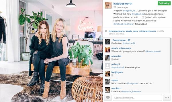 """Screenshot via <a href=""""http://instagram.com/p/we7OIOLcWE/"""">@katebosworth</a>/Instagram"""