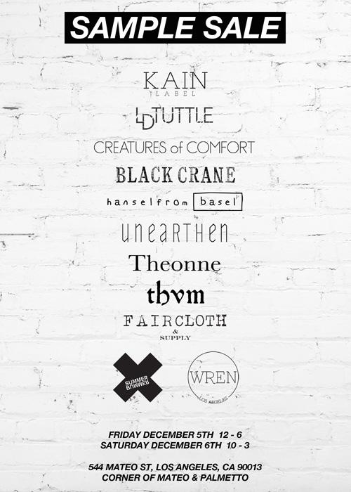 Flyer via Kain Label