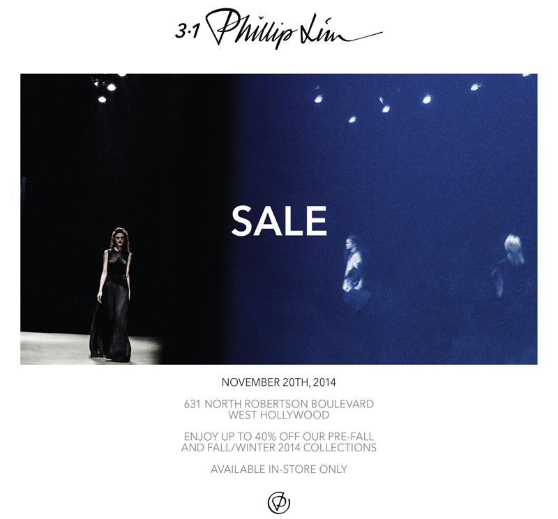 Flyer via 3.1 Phillip Lim