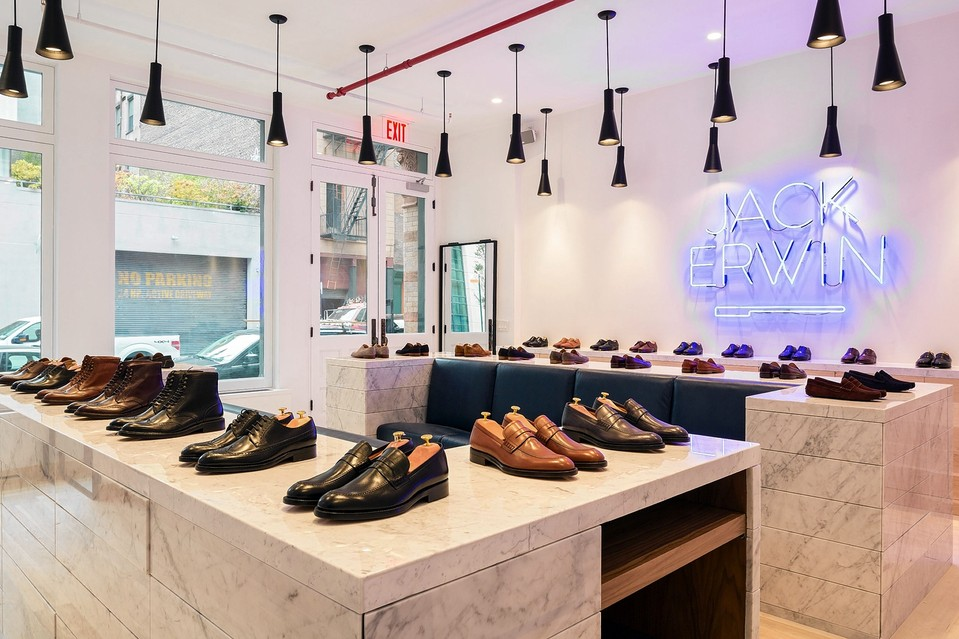 """Photo: <a href=""""http://online.wsj.com/articles/online-dress-shoe-firm-keeps-prices-low-in-new-tribeca-shop-1415399034"""">WSJ</a>"""