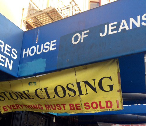 """Photo via <a href=""""http://cappstreetcrap.tumblr.com/post/98177978952/once-a-big-player-on-mission-street-a-clothing"""">Capp Street Crap</a>"""