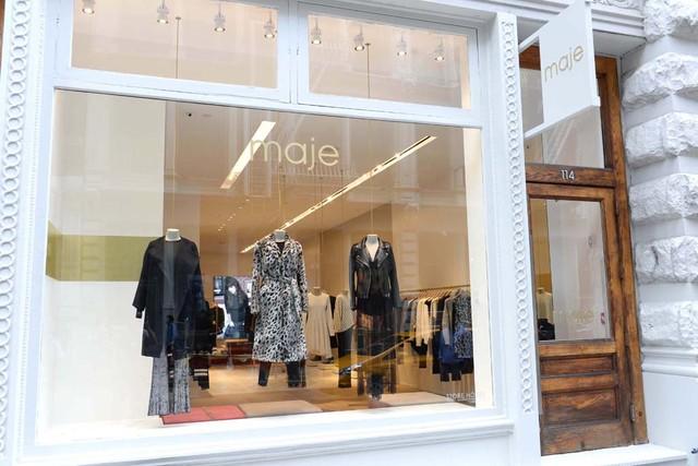 "Image via <a href=""http://www.wwd.com/retail-news/specialty-stores/maje-ny-unit-designed-to-evoke-sense-of-freedom-7919635"">WWD</a>"