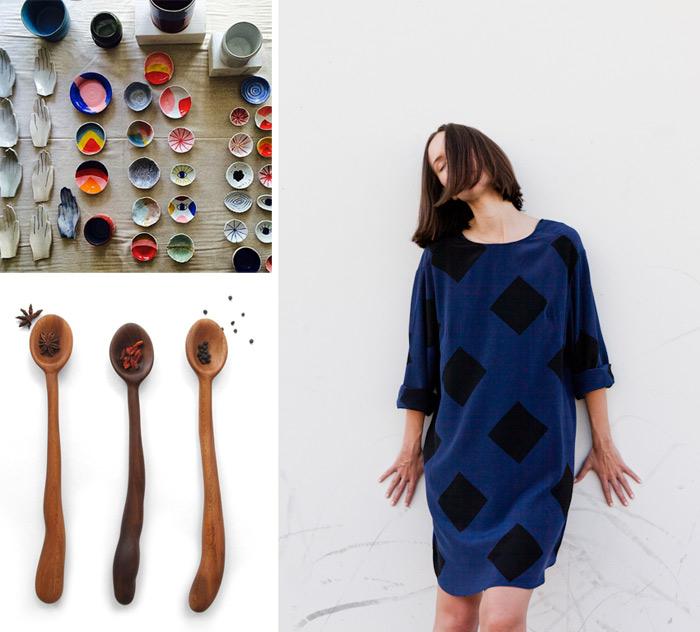 "Images of Pauline Wolstencroft ceramics <a href=""http://instagram.com/p/sqw5QUMM_f/?modal=true"">via</a>, Jesse Kamm apparel <a href=""http://www.jessekamm.com/FW2014/FW2014page.html"">via</a> and Knotwork <a href=""http://knotwork.bigcartel.com/product"