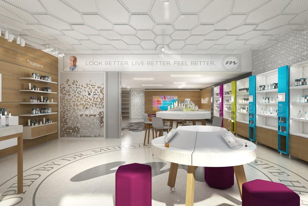 """Murad LA rendering via <a href=""""http://www.wwd.com/beauty-industry-news/skin-care/murad-to-open-la-store-7853356"""">WWD</a>"""