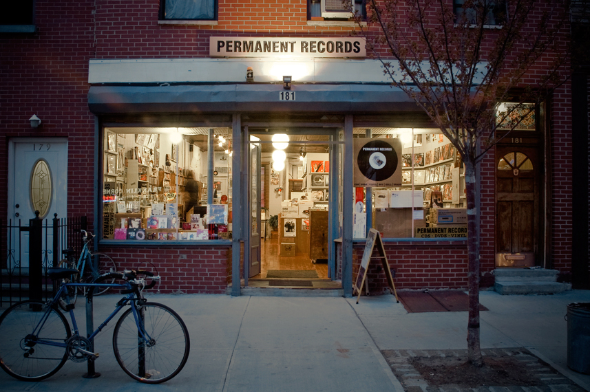 Permanent Records' Greenpoint Storefront; Image via Permanent Records
