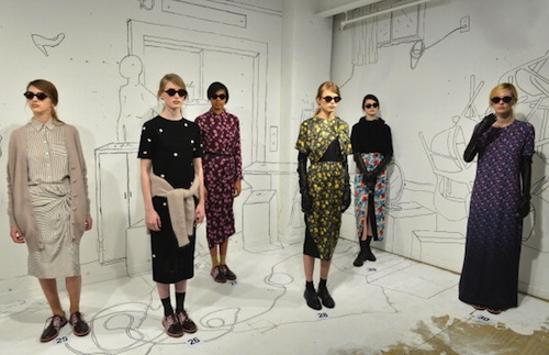 The Band of Outsiders fall 2014 presentation, which took place inside their future store; Getty Images