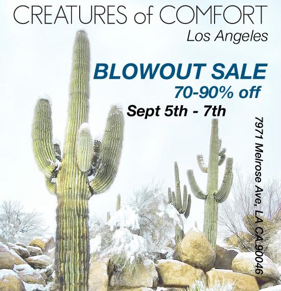 Flyer via Creatures of Comfort