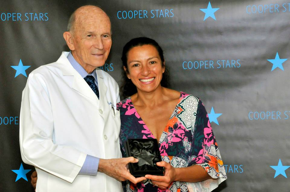 Carla, with Dr. Kenneth Cooper. Image via Cooper Fitness Center