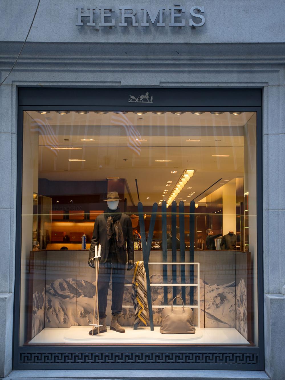 Hermès storefront, image via Getty