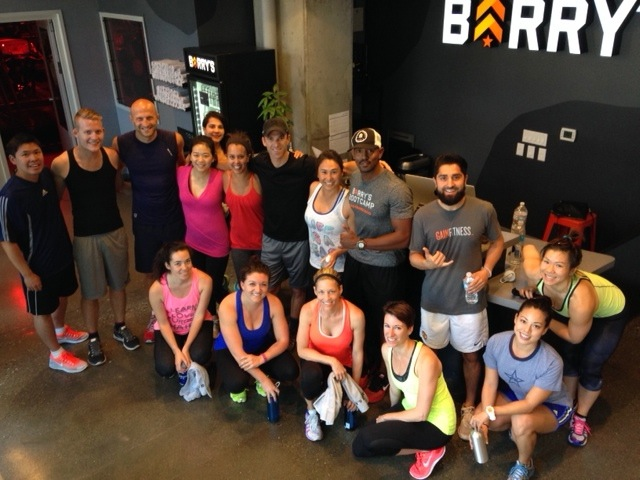 The Racked Fit Club crew at Barry's Bootcamp in San Francisco.