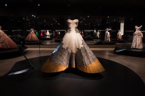 """Photo courtesy of the Metropolitan Museum of Art via <a href=""""http://ny.racked.com/archives/2014/05/05/inside_the_costume_institutes_charles_james_exhibition.php"""">Racked NY</a>."""