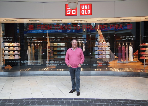 """Uniqlo USA CEO is <a href=""""http://philly.racked.com/archives/2014/05/15/interview-with-uniqlo-us-ceo-larry-meyer-about-king-of-prussia-mall-pa-store-openings.php"""">Larry Meyer</a> is coming for you, New Jersey."""
