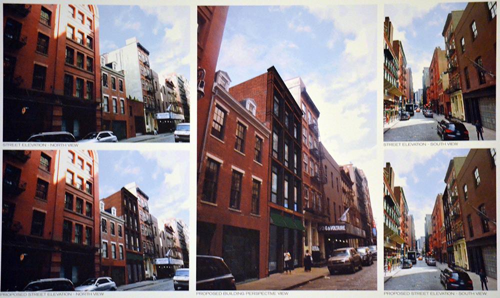 Renderings of the new building at 151 Mercer Street
