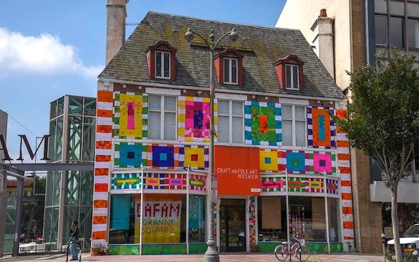 "Image via <a href=""http://blogs.artinfo.com/artintheair/2013/06/10/l-a-s-craft-and-folk-art-museum-gets-epic-yarn-bombing/"">via</a>"