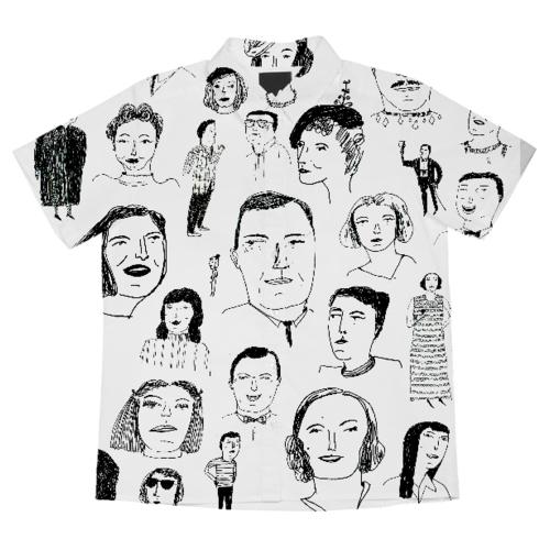 "Elizabeth Graeber faces shirt, <a href=""http://printallover.me/collections/elizabeth-graeber/products/a-shortsleeveblouse-122"">$72</a>"