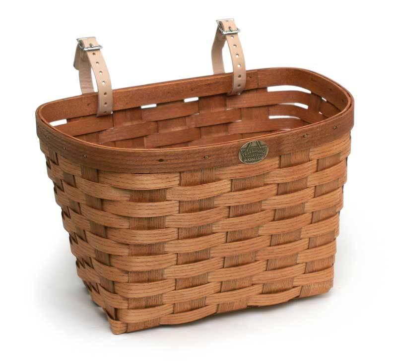 "Peterboro Original Large Bicycle Basket, <a href=""http://www.peterborobasket.com/peterboro-original-large-bicycle-basket/"">$49</a>"