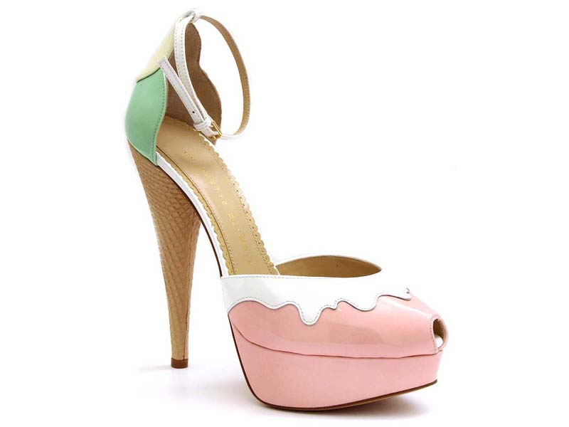 """Charlotte Olympia """"Ice Cream"""" platform sandal at The Tannery, <a href=""""http://curatedbythetannery.com/collections/charlotte-olympia-women-s/products/ice-cream"""">$1245</a>"""