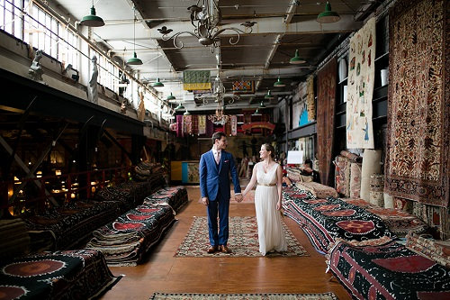 """A wedding at East Falls' Material Culture. Image credit: <a href=""""http://peachplumpearphoto.com/"""">Peach Plum Pear Photography</a>"""