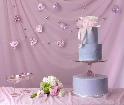 Photo: Magnolia's tiered wedding cakes