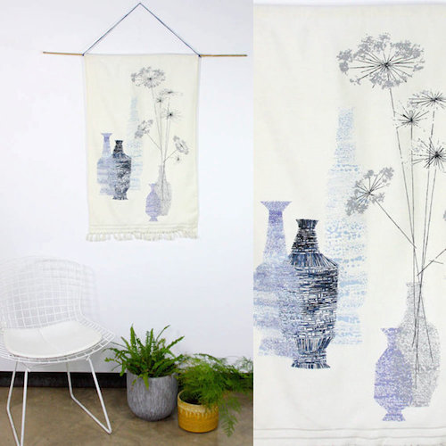 """Photo: <a href=""""https://www.etsy.com/listing/159727242/1960s-mid-century-screen-print-tall-blue?ref=listing-shop-header-2"""">Some Like Us</a>"""