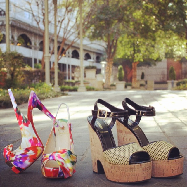 Pretty sandals at pretty good prices. Image via Stanley Korshak/Facebook