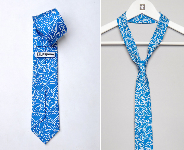 """Jegman B Stealth Tie, <a href=""""http://www.jegman.com/collections/tie-collection-one/products/b-stealth-tie"""">$40</a>"""