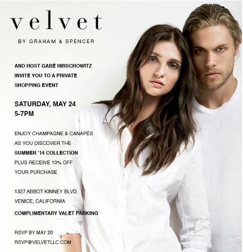 Flyer via Velvet by Graham & Spencer