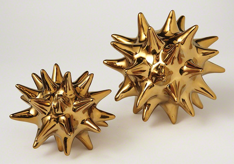 Gold urchins at Kate and Theo, $16 and $28