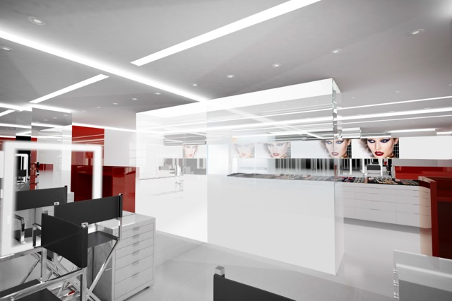 A rendering of the new boutique