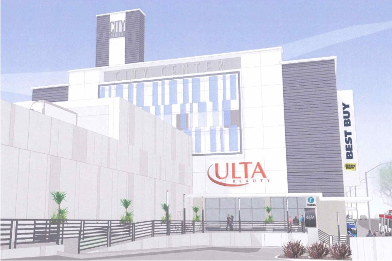 A rendering of Ulta's proposed store in City Center.