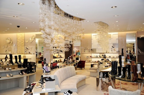 """The Saks Fifth Avenue shoe department; Image via <a href=""""http://untappedcities.com/2013/08/12/daily-what-saks-fifth-avenues-shoe-floor-has-own-zip-code-nyc-10022-shoe/"""">Untapped Cities</a>"""