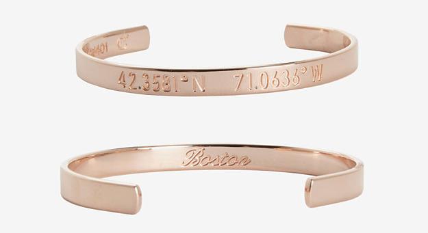 "Coordinates Collection Boston Rose Gold Cuff, <a href=""http://www.intermixonline.com/product/coordinates+collection+boston+rose+gold+cuff.do?country=US&amp;gclid=CPn-7eyW5b0CFRFnOgodsD4AJA"">$160</a>"