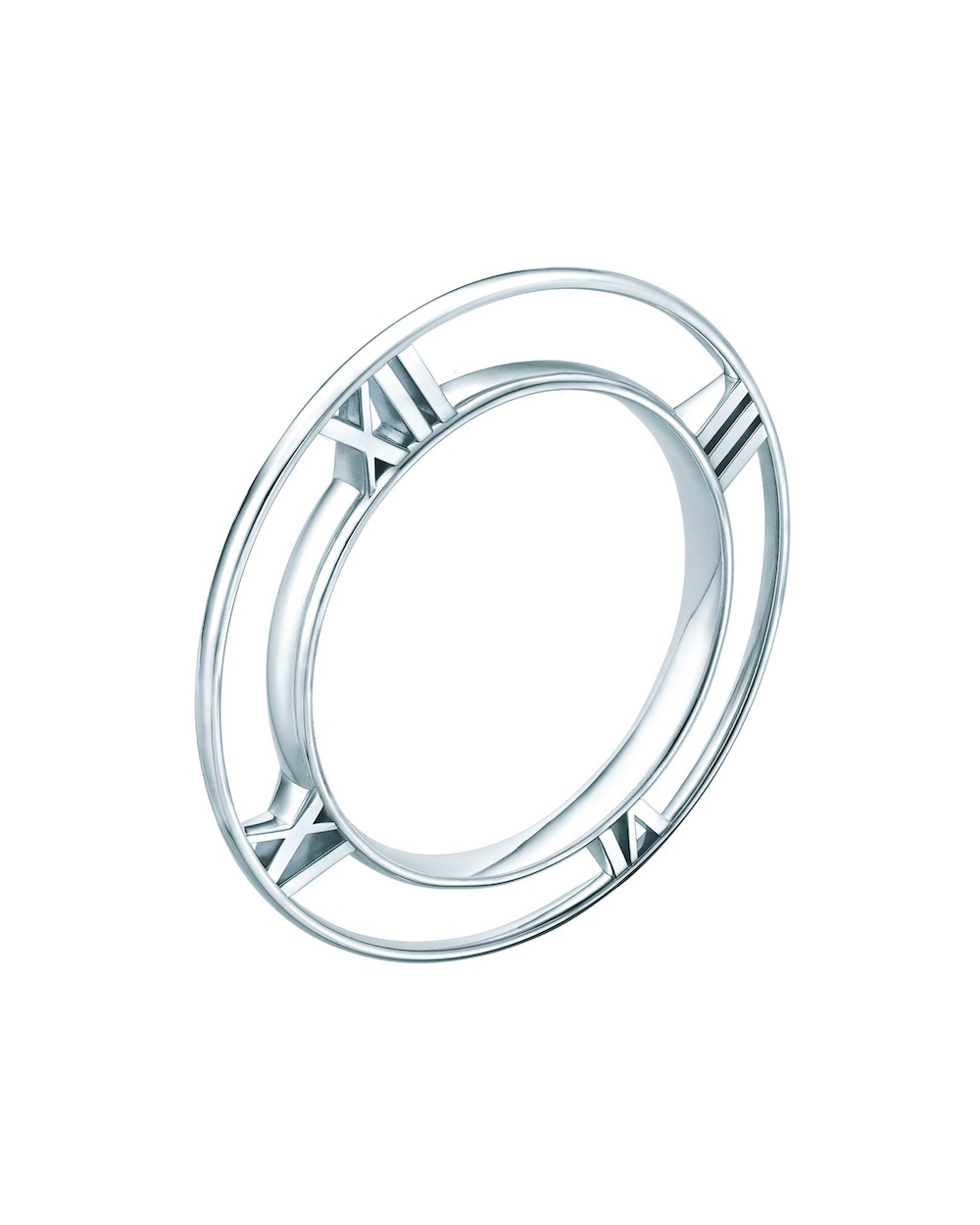 Atlas tapered bangle in sterling silver, $850