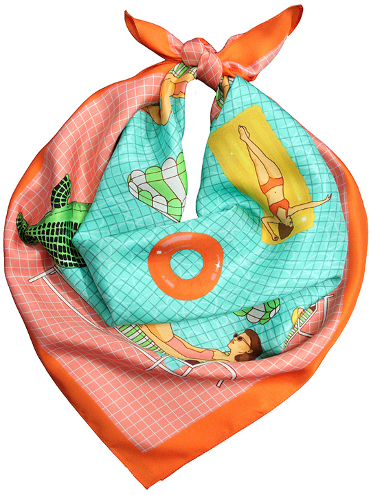 """Image via <a href=""""http://www.karenmabon.com/?product=beverly-hills-hotel-silk-scarf"""">Karen Mabon</a>"""