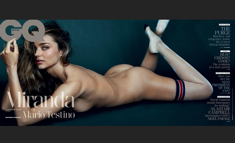 Happy Monday. Here's A Nude Miranda Kerr on British GQ