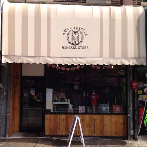 The new storefront at 833 Franklin Avenue