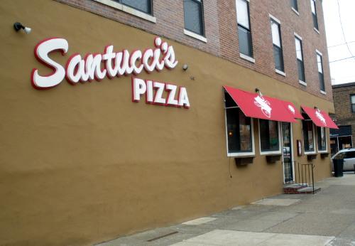 Santucci's square pies are essential.