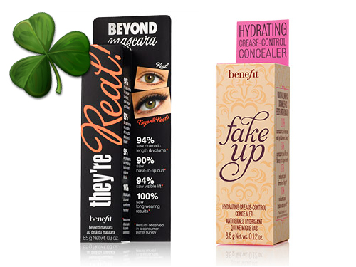 Goodies from Benefit's #LuckyBoost care packages