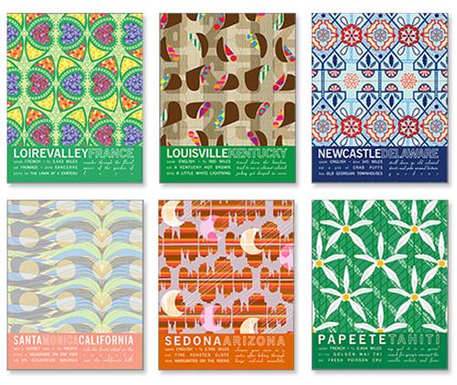 "City prints via <a href=""http://www.jhilldesign.com/"">JHill Design</a>"