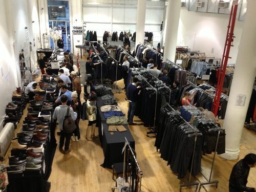The scene at last March's Surface to Air sample sale