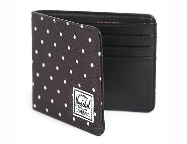 "Herschel Supply Co. 'Hank' wallet in black polka dot, <a href=""http://www.amazon.com/Herschel-Supply-Co-Hank-Wallet/dp/B00C40WV5G/"">$35</a> at Amazon"