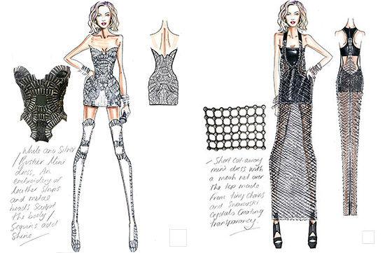 "Sketches via <a href=""http://www.elleuk.com/fashion/news/versace-designs-beyonce-s-costumes-beyonce-mrs-carter-world-tour"">Elle UK</a>"