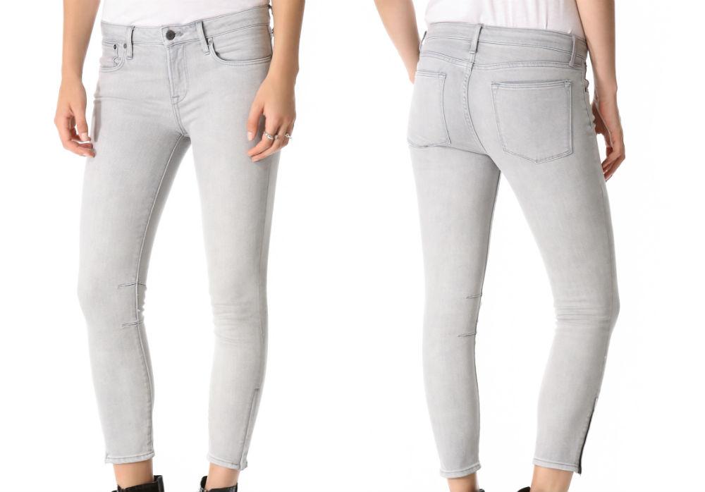 HELMUT Helmut Lang cropped skinny jeans. Images via Shopbop.