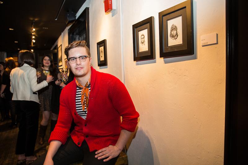 Artist Martin Swift at The Frye Company. Image: John Robinson