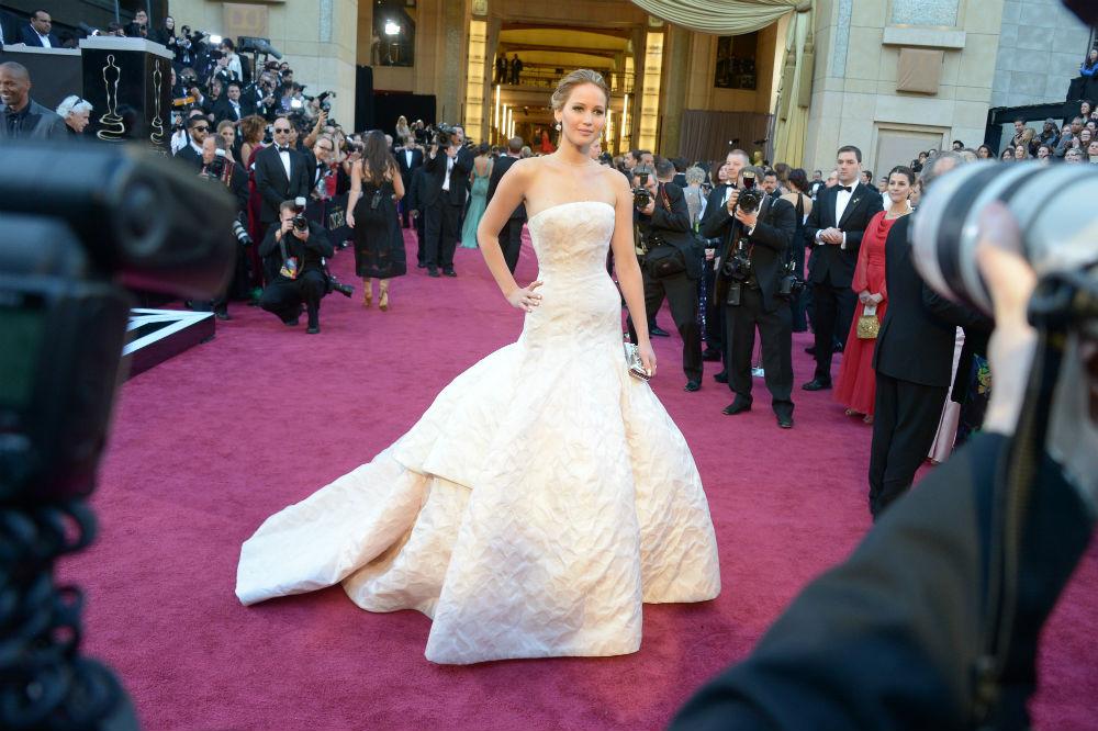 J.Law at last year's Oscars.