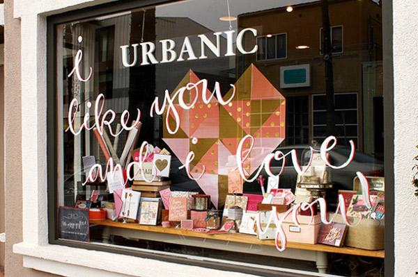 "Image of Urbanic on Abbot Kinney <a href=""http://urbanicpaper.com/blog/i-like-you-store-window/"">via</a>"