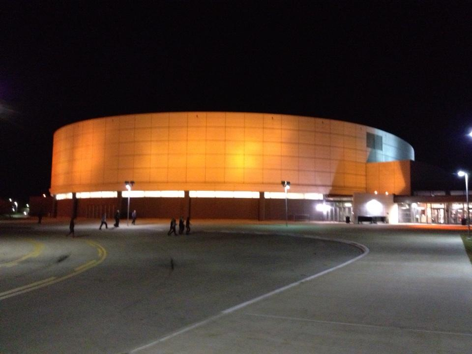 The Convo was Orange for the Northern Illinois Football Celebration at halftime.