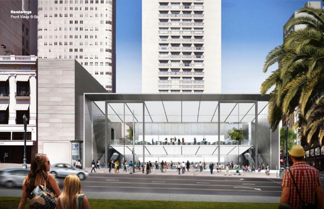 """Rendering from <a href=""""http://www.apple.com/"""">Apple</a> via <a href=""""http://www.macrumors.com/2014/02/02/revised-renderings-san-francisco-store/"""">MacRumors</a>"""