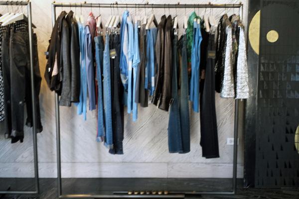 Clothing at Kelly Wearstler's Melrose flagship.